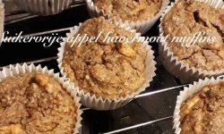 Suikervrije appel, havermout muffins!